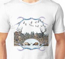 Deer elk and geese  Unisex T-Shirt