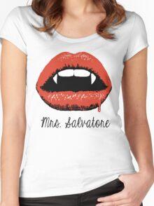Mrs Salvatore Women's Fitted Scoop T-Shirt