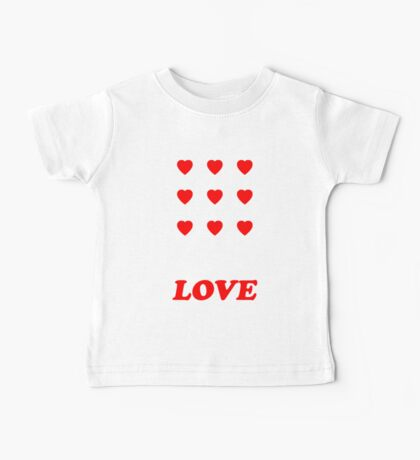 Valentine's Cards: Nine Love Hearts Baby Tee