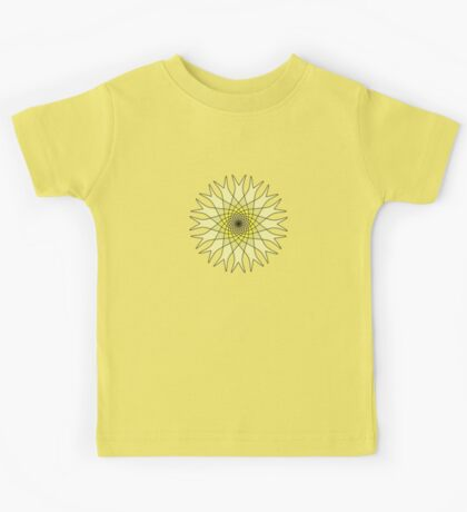 Bachelor Buttons Yellow Flowers Kids Tee