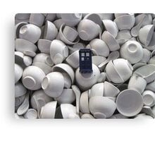 Bowl of TARDIS Canvas Print
