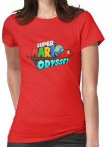 Super Mario Odyssey Logo Womens Fitted T-Shirt