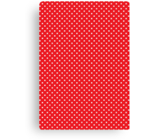 Polkadots Red and White Canvas Print