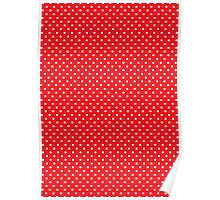 Polkadots Red and White Poster