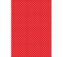 Polkadots Red and White Photographic Print
