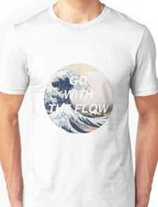 HIPSTER HOKUSAI :: GO WITH THE FLOW Unisex T-Shirt