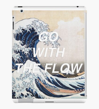 HIPSTER HOKUSAI :: GO WITH THE FLOW iPad Case/Skin