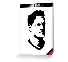 Mats Hummels DFB German National Team Greeting Card
