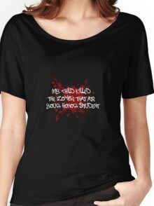 Proud Mom of a Zombie Killer Women's Relaxed Fit T-Shirt