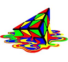 Pyraminx cude painting01B by ratherkool
