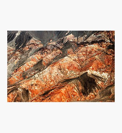 Red Ridges Photographic Print