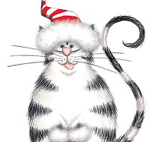 Kazart Fat Cat Xmas Star by Karen Sagovac