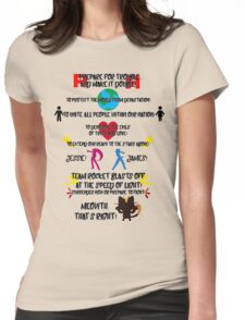 Team Rocket Motto Womens Fitted T-Shirt