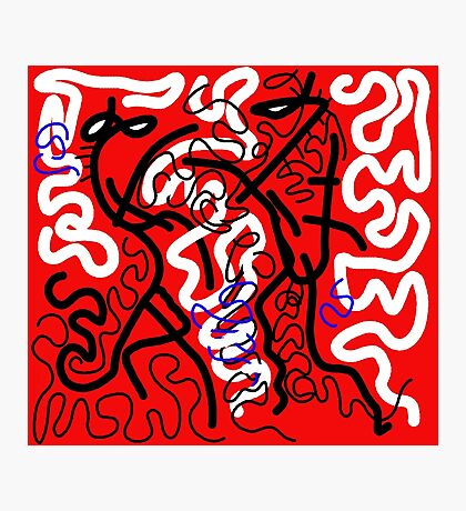 Red mess Photographic Print
