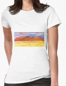 Outback Sunset Womens Fitted T-Shirt
