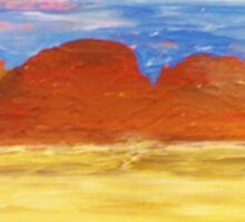 Outback Sunset Sticker