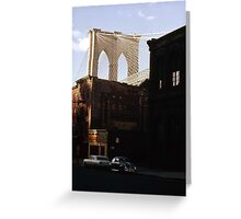 Brooklyn Bridge 1970 Greeting Card