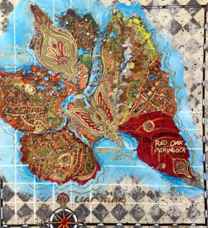 Leaf Island Sticker