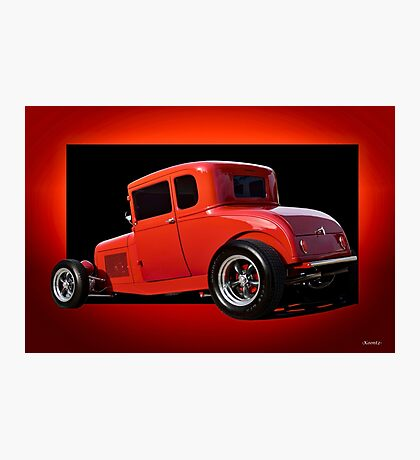 1928 Ford Coupe 'Perfection in Red' II Photographic Print