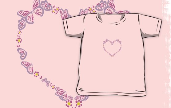 Butterfly Heart Tee by Amy-Elyse Neer