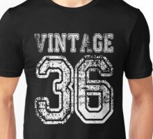 Vintage 36 2036 1936 T-shirt Birthday Gift Age Year Old Boy Girl Cute Funny Man Woman Jersey Style Unisex T-Shirt
