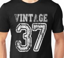 Vintage 37 2037 1937 T-shirt Birthday Gift Age Year Old Boy Girl Cute Funny Man Woman Jersey Style Unisex T-Shirt