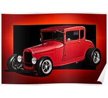 1928 Ford Coupe 'Perfection in Red' I Poster