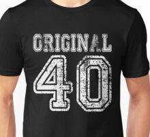 Original 40 2040 1940 T-shirt Birthday Gift Age Year Old Boy Girl Cute Funny Man Woman Jersey Style Unisex T-Shirt