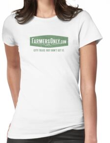 Farmers Only (green logo) Womens Fitted T-Shirt