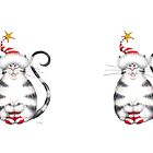 Kazart Fat Cat Xmas Star Mug by Karen Sagovac
