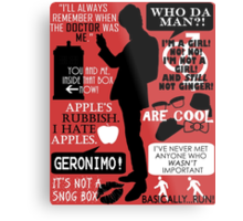 Doctor Who - 11th Doctor Quotes Metal Print