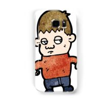 unhappy boy cartoon Samsung Galaxy Case/Skin