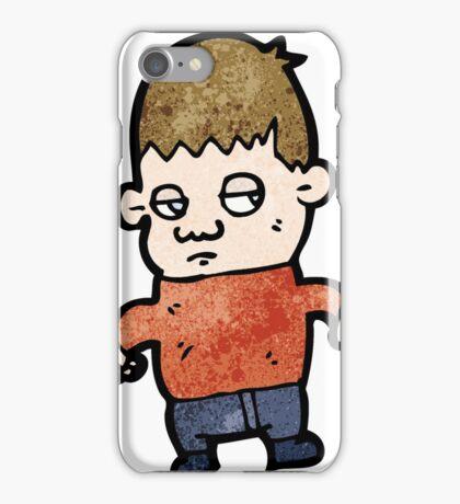 unhappy boy cartoon iPhone Case/Skin