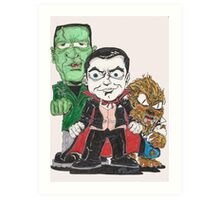 monster mash old skool Art Print