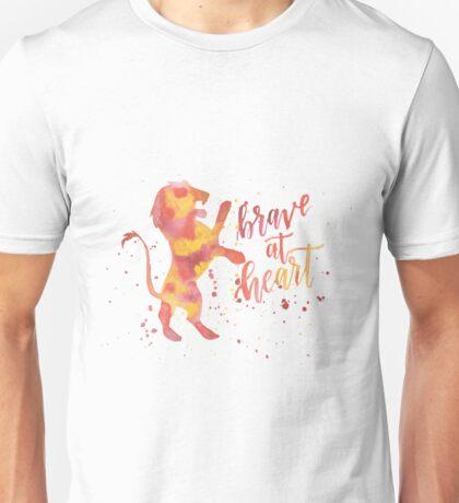 House Lion Brave At Heart Watercolor Unisex T-Shirt