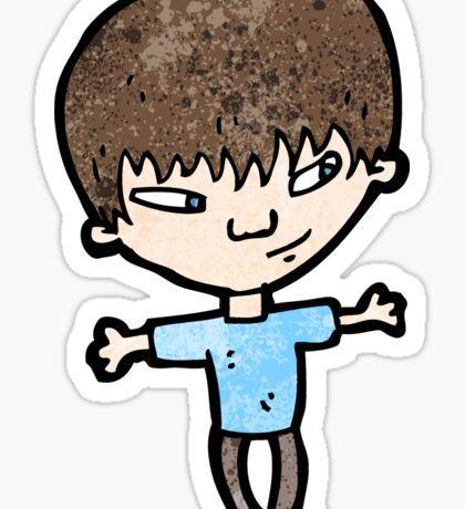 cartoon clever boy Sticker