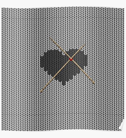 Original Knitted Heart Design  Poster