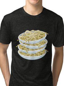 Glitch Food plain noodles Tri-blend T-Shirt