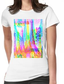 Glitch in Paris Womens Fitted T-Shirt