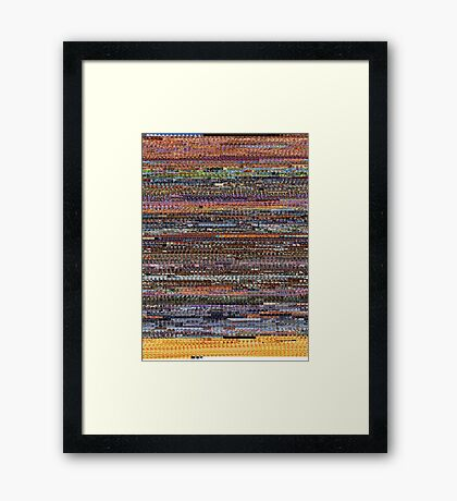 The ENTIRE BEE MOVIE but it's on a t-shirt (Graphic Tee) Framed Print