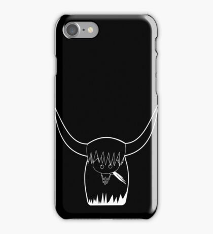 Dexter Skyhook coo White outline iPhone Case/Skin