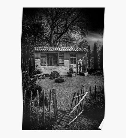 Le Jardin de Vincent Black and White Poster