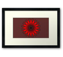 Bachelor Buttons Red Flowers Framed Print