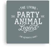 Party Animal - white - shirt Canvas Print