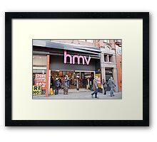 HMV  Shop  Manchester Framed Print