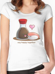 Soy Happy Together Women's Fitted Scoop T-Shirt