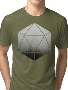 D20 - Foggy Trees Tri-blend T-Shirt