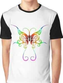 Tribal rainbow butterfly tattoo Graphic T-Shirt