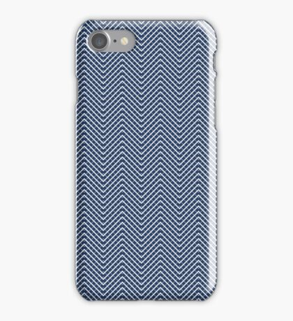 Sleek blue Rally Pattern iPhone Case/Skin