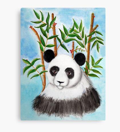 Bamboo Panda Canvas Print